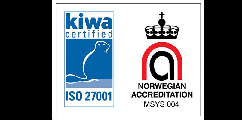Netsecurity har oppnådd ISO27001 sertifisering